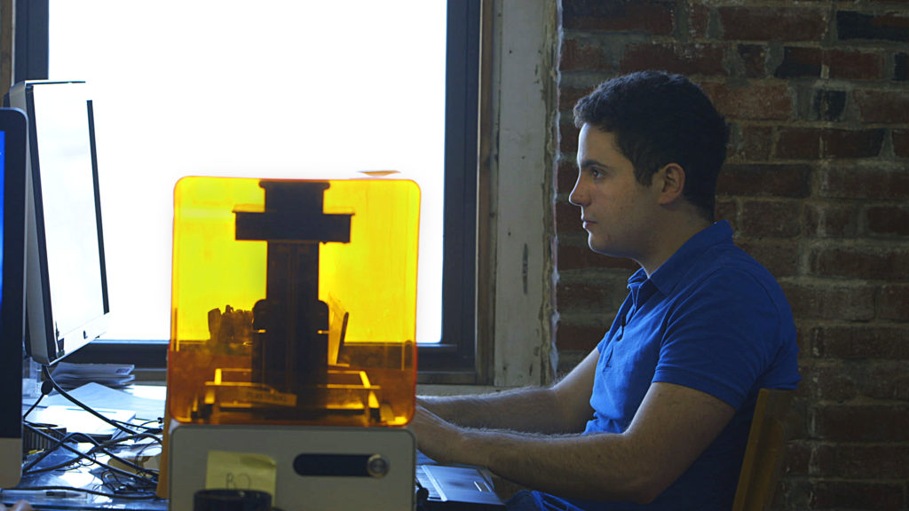 PTL Max Lobovsky of Formlabs with Form 1 Printer