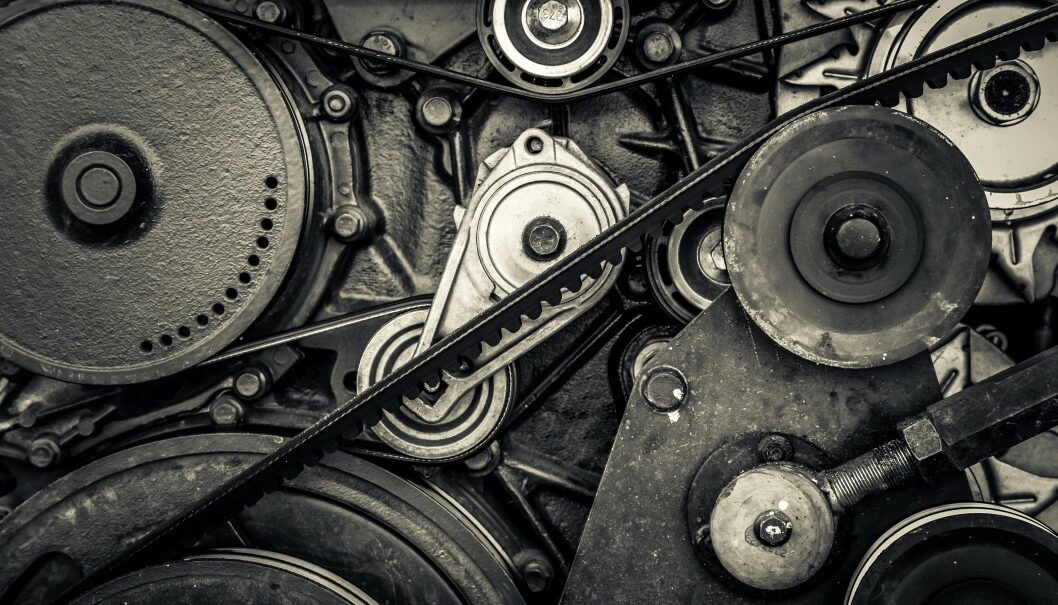 Close up car engine internal combustion engine car engine and machine parts background