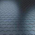 Futuristic Technology Wave Hexagon Pattern Modern Background 3D Rendering